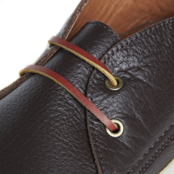 gerona brown leather detail