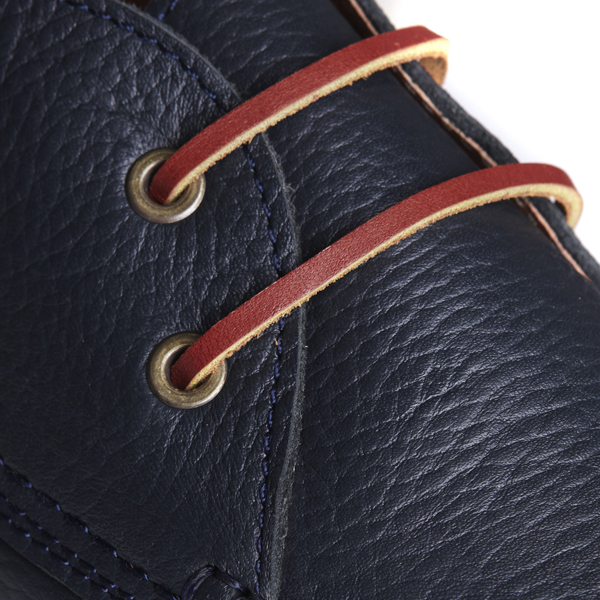 gerona navy leather detail