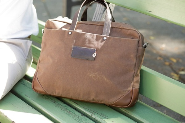 Property Of… Roberto Work Bag waxed canvas & leather 1