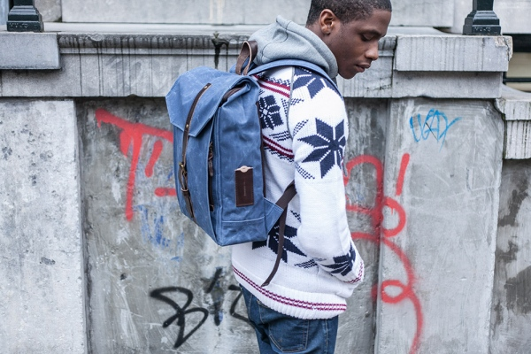 PROPERTY OF… Hector Backpack Blue waxed canvas