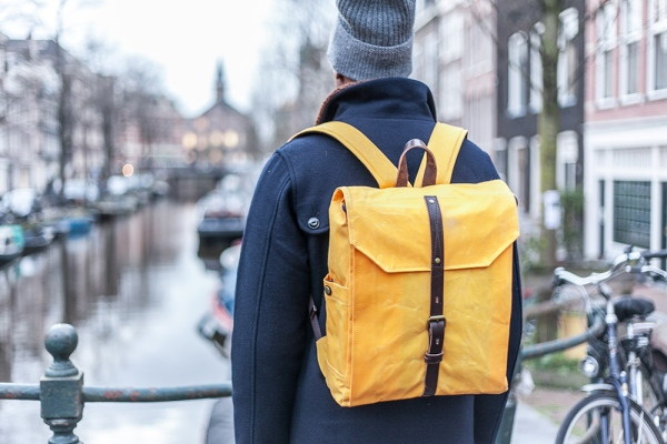 PROPERTY OF… Hector Backpack Yellow Waxed Canvas